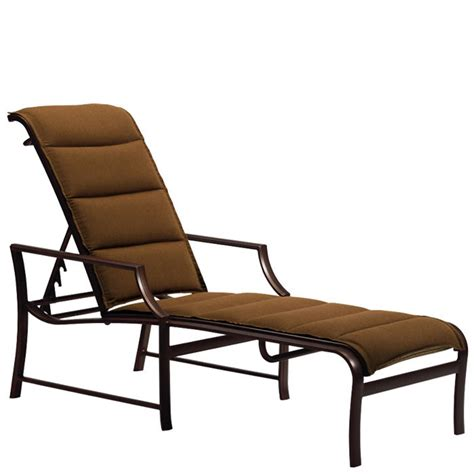 tropitone 820832ps padded sling chaise lounge