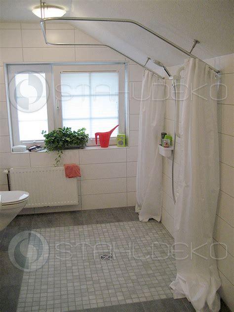 Dusche Mit Duschvorhang by Duschvorhangstange U Form Barrierefrei F 252 R Badewannen
