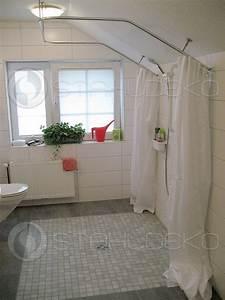 Duschvorhang Für Dachschräge : duschvorhangstange u form barrierefrei f r badewannen oder dusche edelstahl oder wei ~ Heinz-duthel.com Haus und Dekorationen