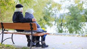 Elderly-Couple-Sitting-on-Bench-01 - Heart 'n Home Hospice ...  Sitting
