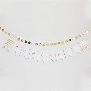 gold foil letter pennant banner kit on sale at the With gold letter banner kit