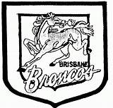 Broncos Coloring Pages Team Nrl Denver Brisbane Logos Printable Rugby League Houston Football Silhouette Clipart Teams Wales Texans South Print sketch template
