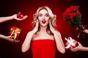 Receive a gift of surprise HD picture 01 - People stock ...