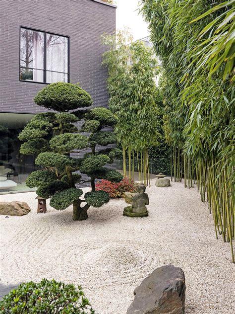 japanese garden gardens zen courtyard landscape dry trend modern landscaping gravel budding backyard karesansui chinese meditation european indoor