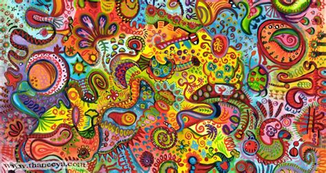 cherry colored funk colorful detailed abstract by thaneeya mcardle