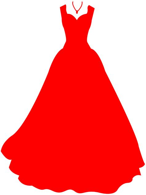 Dress Clipart Holidays And Events Silhouettes And Outlines Free Vector