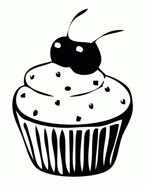 Hello Kleurplaat Cupcakes by Free Printable Cupcake Coloring Pages For