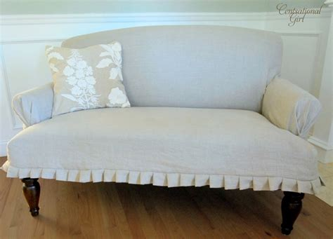 Slipcovered Settee by Slipcovered Settee Centsational Style