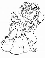 Princess Coloring Disney Belle Pages Colouring Printable Beast Drawing sketch template