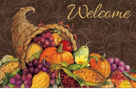 Thanksgiving Doormat by Indoor Outdoor Thanksgiving Harvest Matmates Doormat