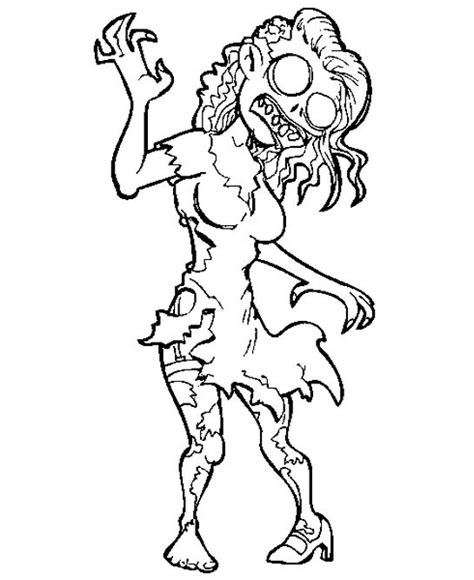 crazy zombie coloring for kids halloween cartoon