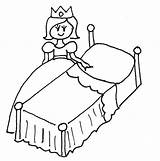 Bed Clipart Colouring Coloring Pages Monster Webstockreview sketch template