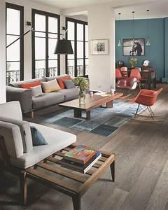 salle a manger ouverte sur le salon 8 exemples reussis With tapis design avec le plus grand canapé du monde