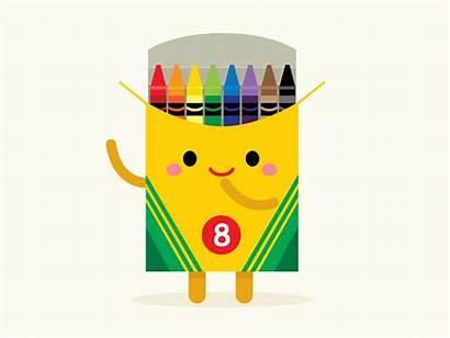 Clipart Crayons Kawaii Crayon Dribbble Icon Logos