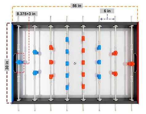 full size foosball table official full size foosball table dimensions considerations