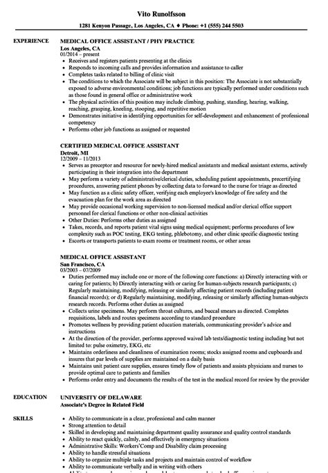 Chronological Resume Office Assistant by Office Assistant Resume Sles Velvet