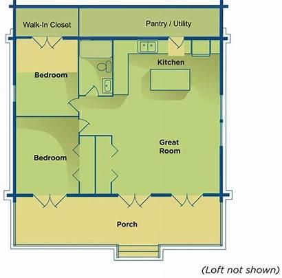 Cabin Basic Floor Utility Plan Plans Log