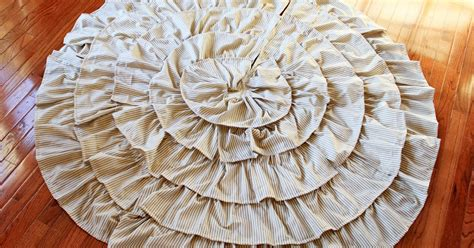 the creative imperative stripey ruffle christmas tree skirt