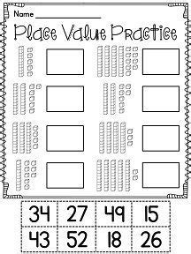 first grade math unit 9 place value worksheets math and