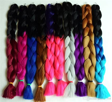 colorful braiding hair colorful x pression jumbo braiding hair ombre