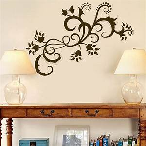 paisley swirls flowers vinyl wall decals With vinyl wall stickers
