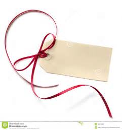 Blank Gift Tag with Ribbon