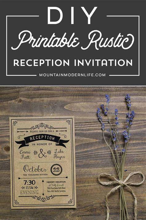 printable black diy reception  invitation template
