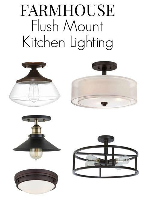 kitchen flush mount lighting farmhouse kitchen lighting ideas farmhouse style 4884