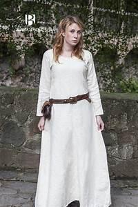 empirecostume thora robe ou sous robe viking en coton ecru With sous robe chair