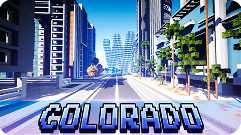 minecraft modern colorado river city map with