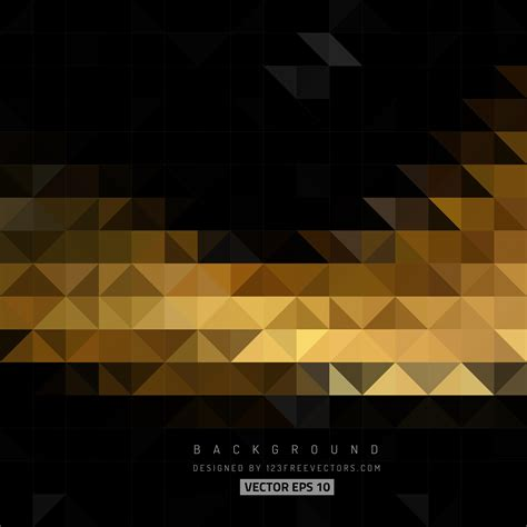 Abstract Black Triangle by Black And Gold Background Free Vector Background Editing