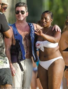 Simon Cowell Brings Star Status To The Beaches Of Barbados On Family Getaway Daily Mail Online