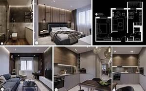 Amazing Interior Apartment Plan with Just 60 Square Meters ...