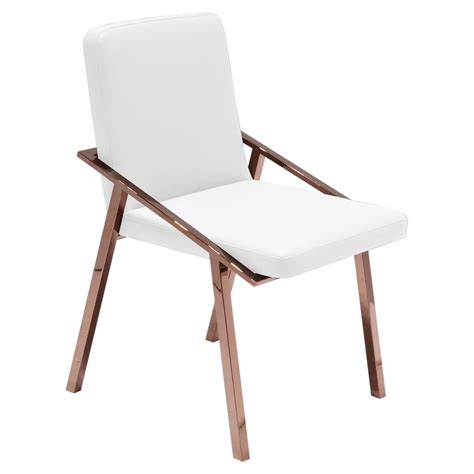 zoey modern white gold arm dining chair kathy kuo home