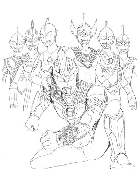 Coloring Ultraman by Ultraman Zero Coloring Pages Now Sketch Coloring Page