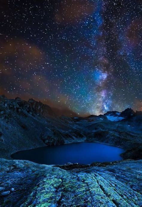Milky Way Reflections Night Sky Scenes Starscapes