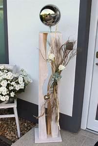 Holz Weiß Streichen Aussen : gs60 dekos ule f r innen und aussen gro e gespaltene s ule wei gebeizt aus neuem holz ~ Whattoseeinmadrid.com Haus und Dekorationen