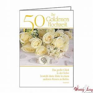 Glückwunschkarten Zur Goldenen Hochzeit : gl ckwunschkarte zur goldenen hochzeit 50 ~ Frokenaadalensverden.com Haus und Dekorationen