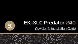 Ek-xlc Predator 240  R1 1  Installation Guide