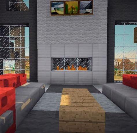 fireplaces minecraft  modern living rooms  pinterest
