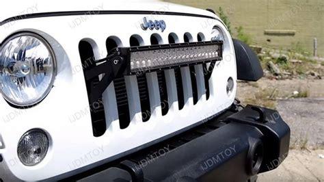 jeep light bar grill 20 quot 120w high power led light bar kit for jeep wrangler jk