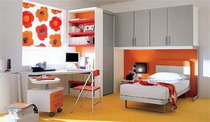 boy kids bedroom with orange interior design ideas With teenage boys bedroom interior designs