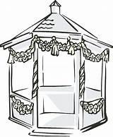 Gazebo Clipart Clip Garden Pavilion Cliparts Outdoor Library Clipground Webstockreview sketch template