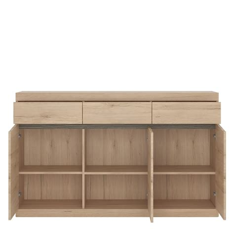 3 Door Sideboard by Kensington 3 Door 3 Drawer Sideboard