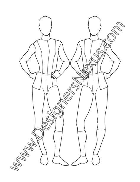 male fashion croqui front view  designers nexus