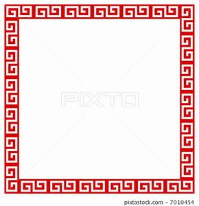 chinese pattern, flame, frame - Stock Illustration ...