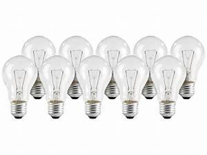 Glühbirne 40 Watt : gl hbirne e27 40 watt standard klar 10er set ~ Frokenaadalensverden.com Haus und Dekorationen