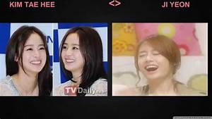 Different Between Kim Tae Hee và Ji Yeon (T-Ara) - YouTube