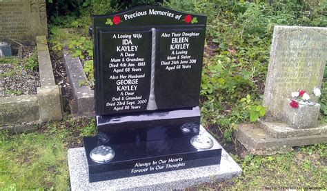 ogee book headstone