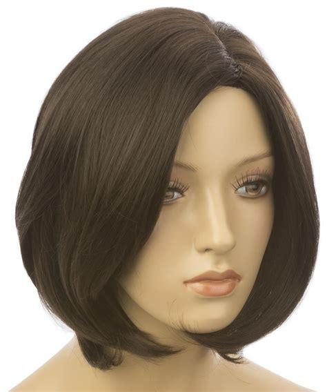 female mannequin wig  short hair dark brown color